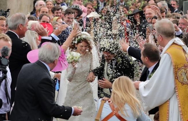 Una foto del matrimonio di  Kit Harington