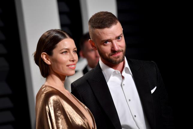 Primo piano di Jessica Biel e Justin Timberlake