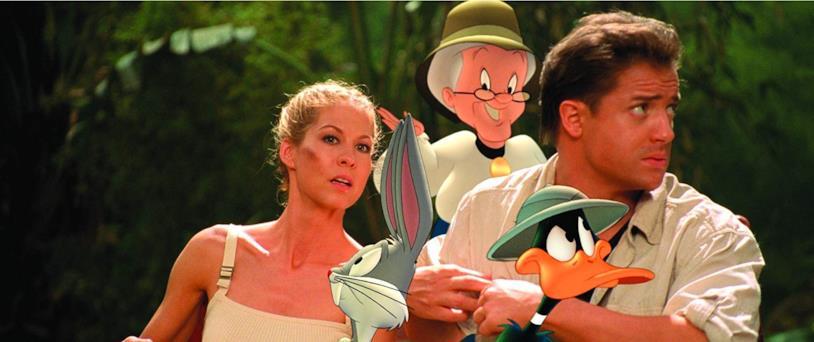 Fraser ed Elfman in compagnia di alcuni Looney Tunes nella giugla