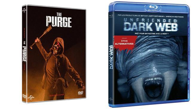 Unfriended: Dark Web nel formato Blu-ray e The Purge - Stagione 1 nel formato DVD