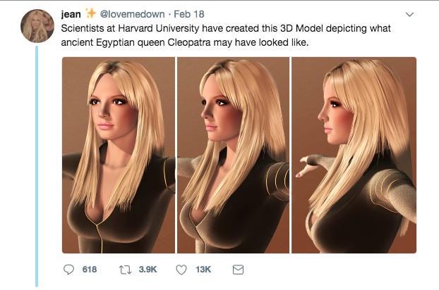 Cleopatra in versione moderna sarebbe la copia di Britney Spears