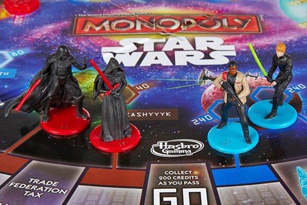 Le quattro pedine del Monopoly di Star Wars