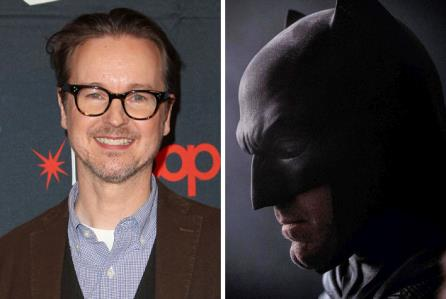 Il regista/sceneggiatore Matt Reeves e Ben Affleck nei panni di Batman