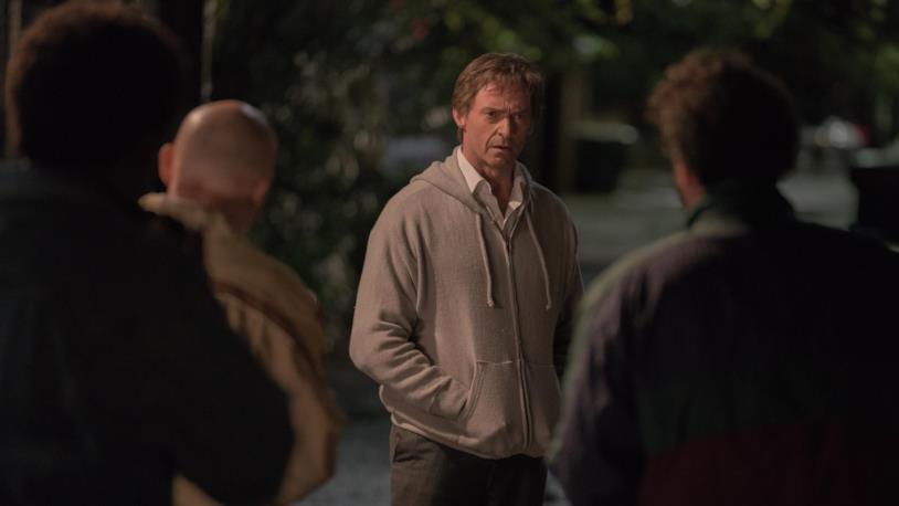 Hugh Jackman arrabbiato in una scena di The Front Runner