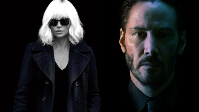 Charlize Theron e Keanu Reeves, icone action