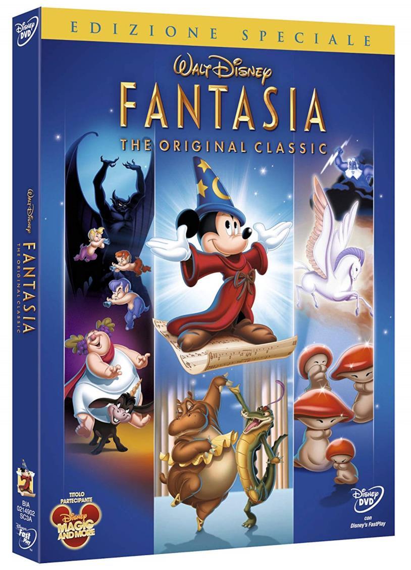 Copertina con Topolino del cofanetto DVD di Fantasia