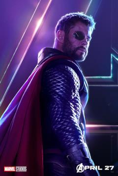 Il poster del personaggio di Thor