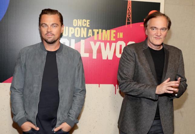 Leonardo DiCaprio e Quentin Tarantino posano per i fotografi