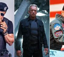 Foto composita Mercenari, Terminator e Top Gun