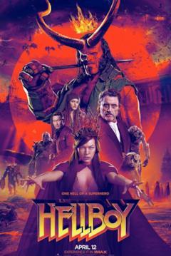 Poster con montaggio di tutti i personaggi di Hellboy