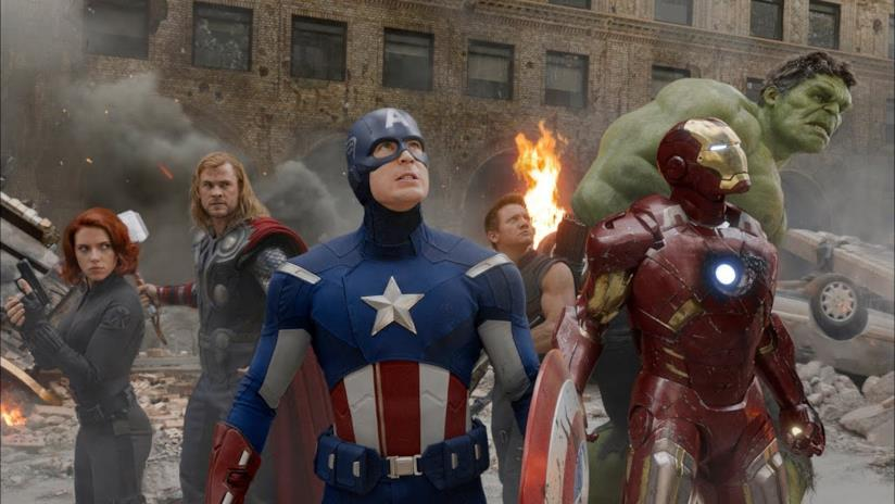 Un primo piano dei Vendicatori in The Avengers