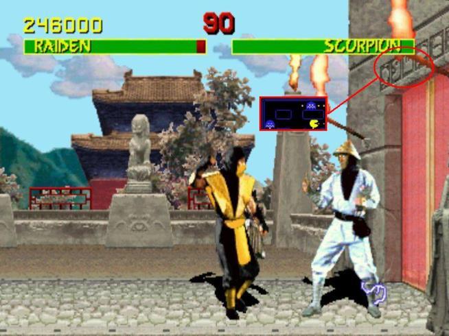 Il cameo di Pac-Man nel primo capitolo di Mortal Kombat