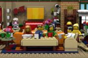 Primo piano del set Central Perk Coffee di Friends costruito coi LEGO