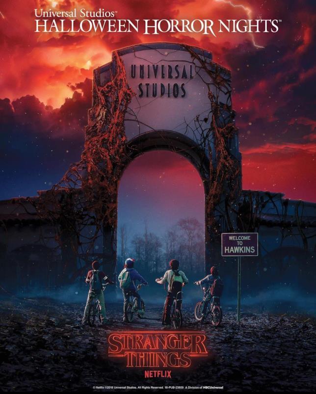 Una nuova attrazione a tema Stranger Things per l' Halloween Horror Night 2018 agli Universal Studios