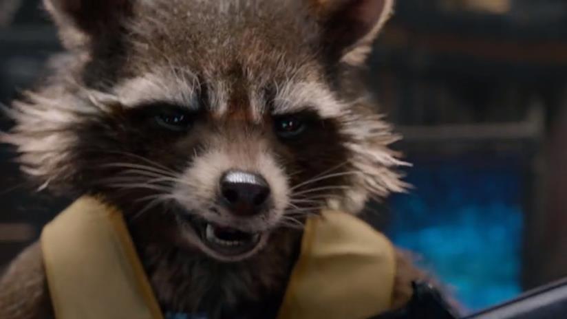 Rocket Raccoon in una scena di Guardiani della Galassia