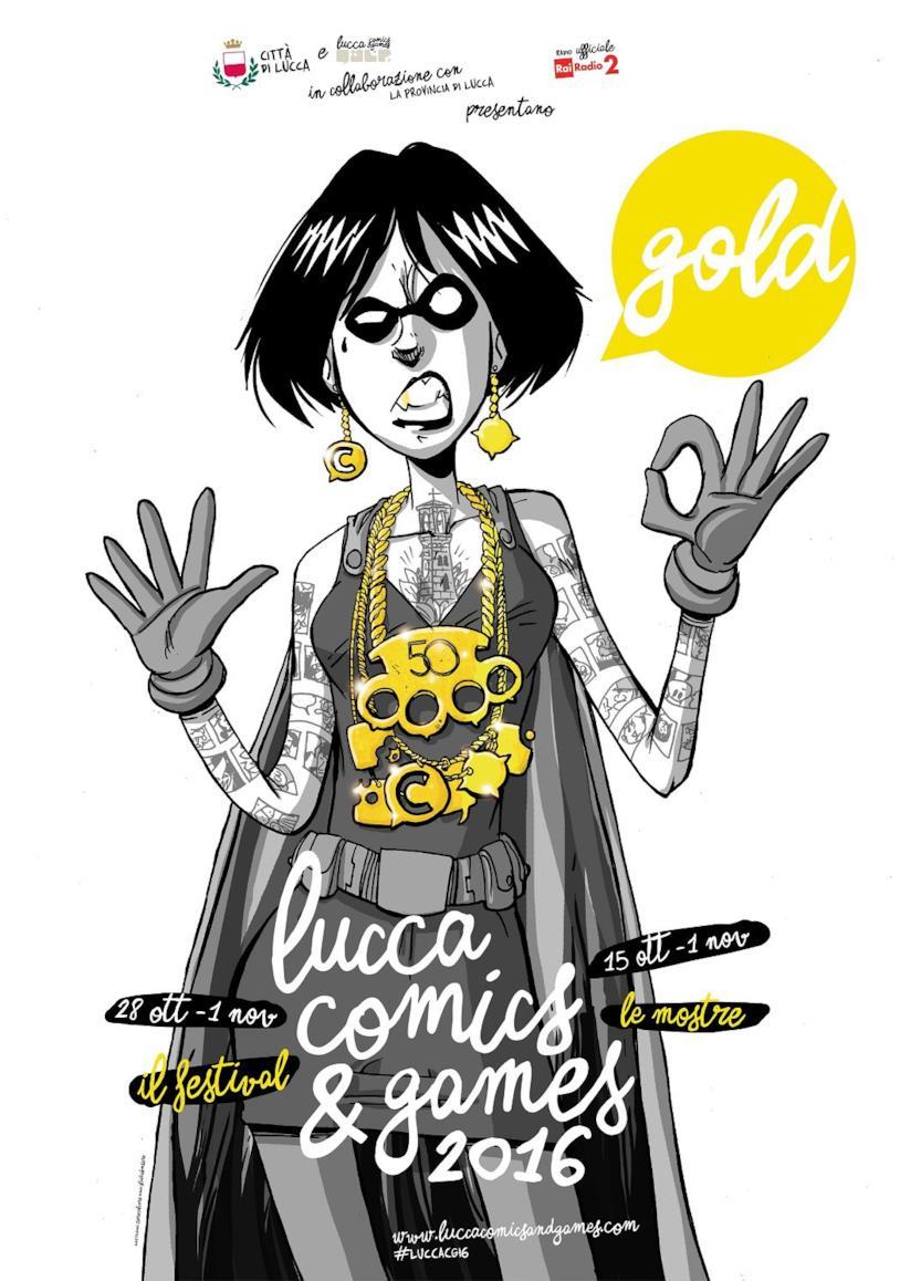 La supereroina di Zerocalcare sulla locandina di Lucca Comics & Games 2016