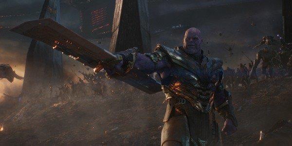Un primo piano di Thanos in Avengers: Endgame
