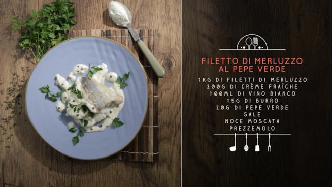 La ricetta del filetto di merluzzo al pepe verde