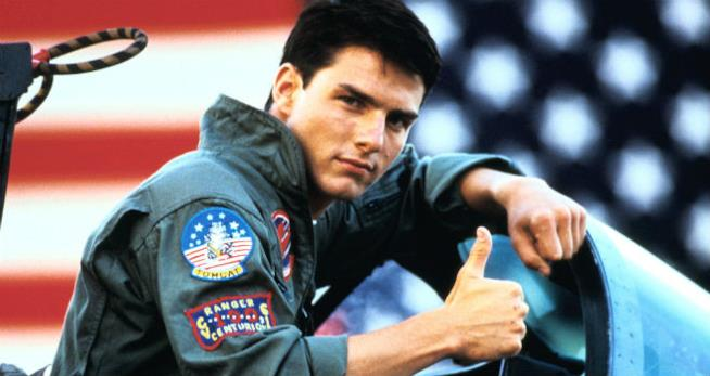 Tom Cruise in Top Gun del 1986