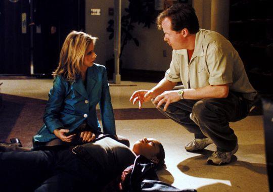 Sarah Michelle Gellar con Joss Whedon