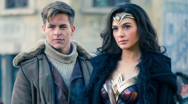Wonder Woman e Steve Trevor in una scena del film