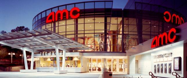 La facciata esterna del primo cinema AMC della città di Riyad in Arabia Saudita
