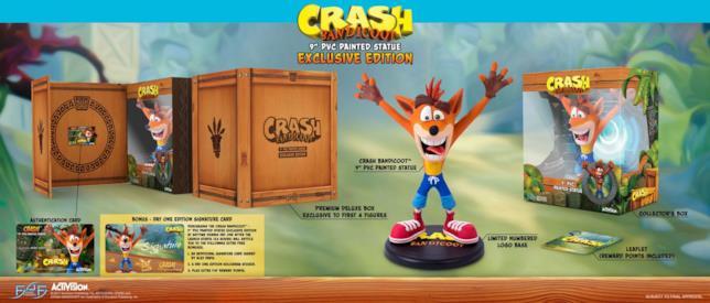 Foto della limited edition della statua di Crash Bandicoot prodotta da First 4 Figures