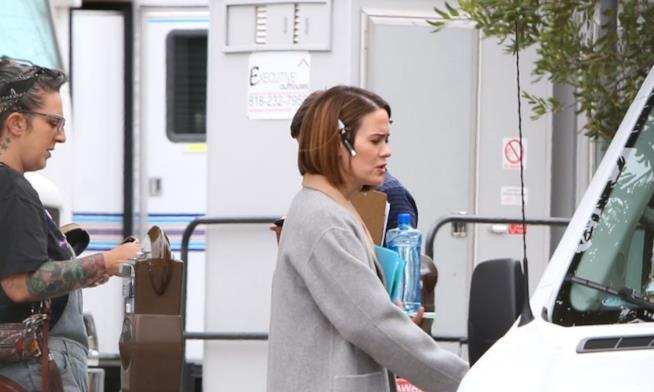 Sarah Paulson sul set di American Horror Story 7
