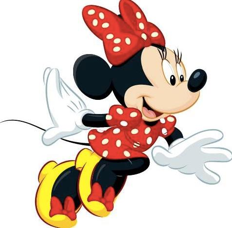 Minnie Mouse mentre sta correndo