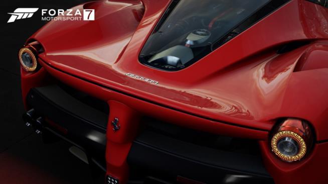 La linea di una Ferrari in Forza Motorsport 7