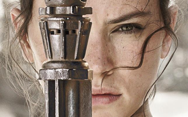Un primo piano di Rey da Il Risveglio della Forza
