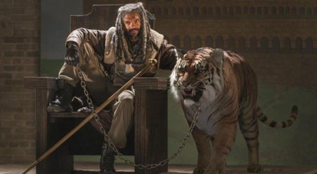 Una foto di Ezekiel della stagione 7 di The Walking Dead