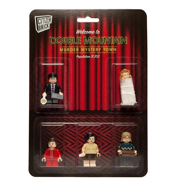 Tutti i personaggi del set di mini-figures di Citizen Brick ispirato a Twin Peaks
