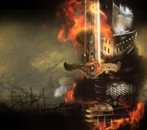 Un guerriero di Dark Souls in uno splendido artwork