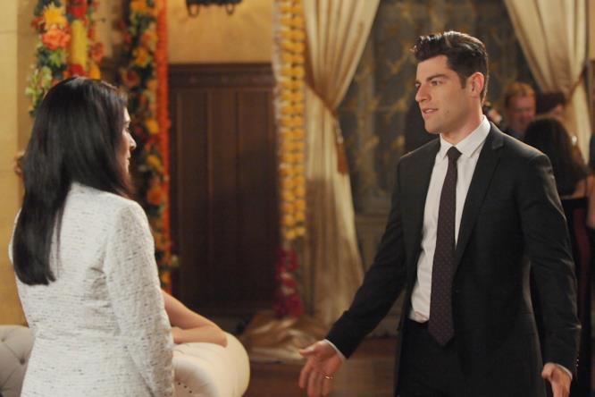 Priyanka e Schmidt nel primo episodio di New Girl 5