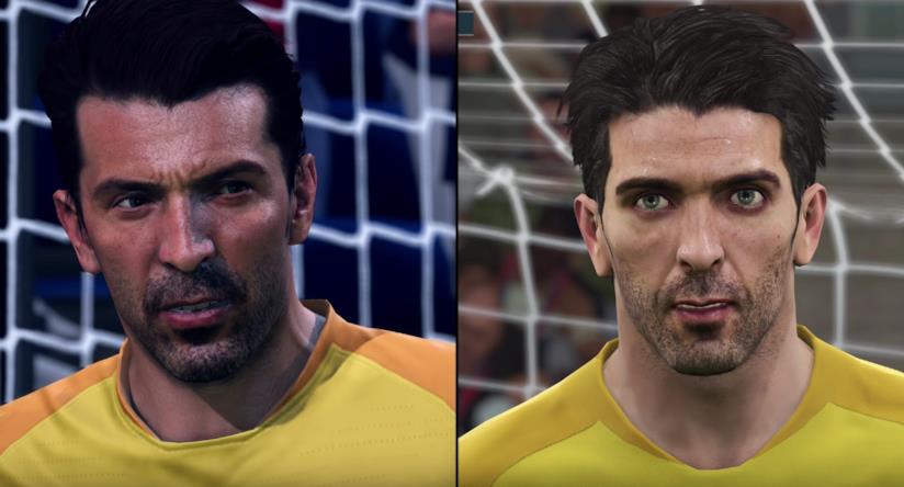Gianluigi Buffon in FIFA 19 e PES 2019