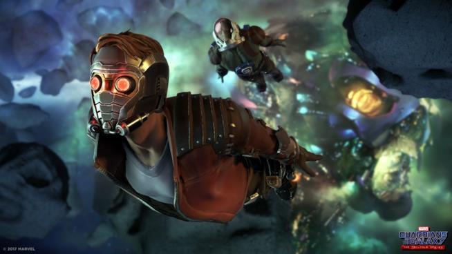 Gli eroi di Guardian of the Galaxy: The Telltale Series in azione
