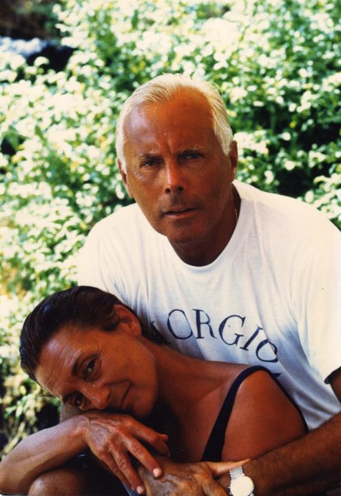 Giorgio Armani insieme alla sua più fidata collaboratrice Adriana Mulassano