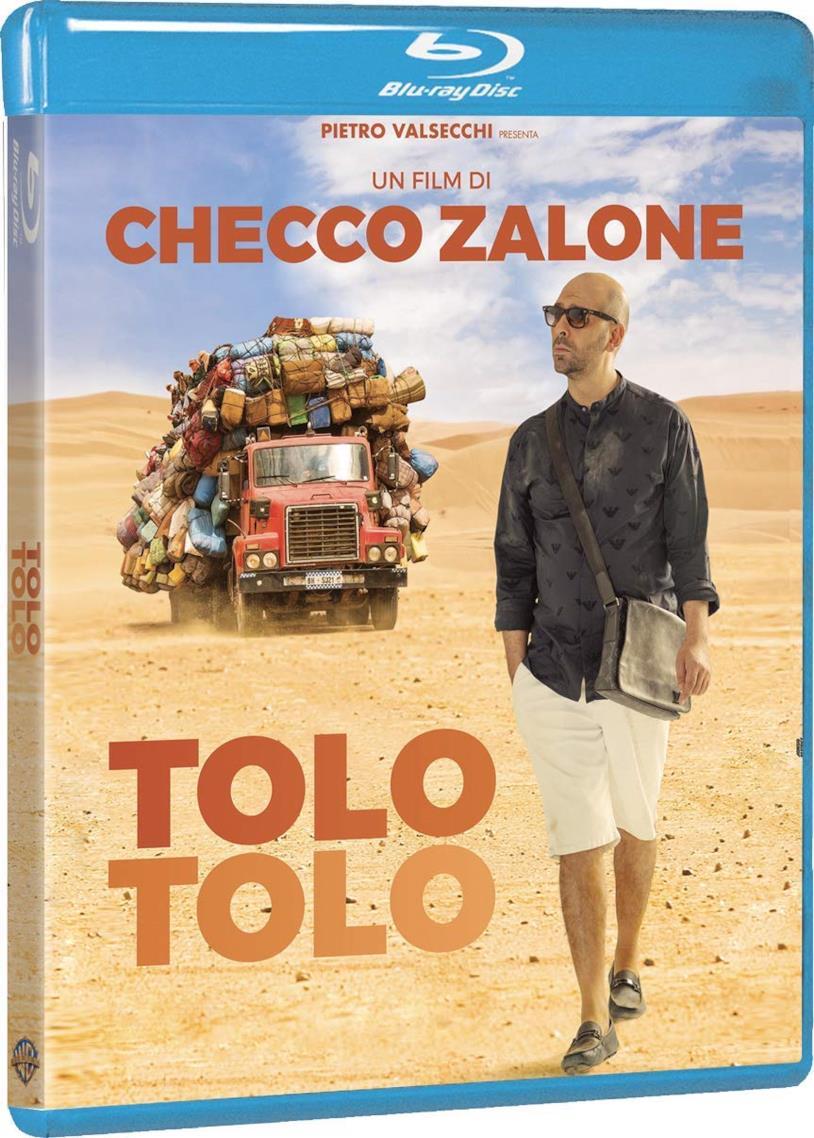 Checco Zalone nella copertina del cofanetto Blu-ray di Tolo Tolo