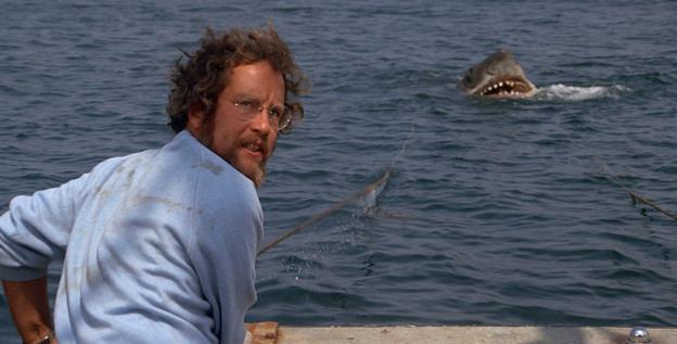 Matt Hooper e lo Squalo nel film di Spielberg