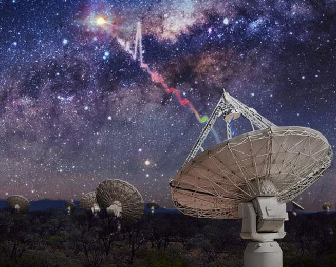 Radiotelescopi Askap intenti a osservare i fast radio bursts