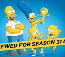 Il banner del rinnovo dei Simpson