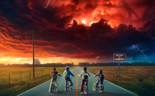 Una iconica immagine di Stranger Things 2