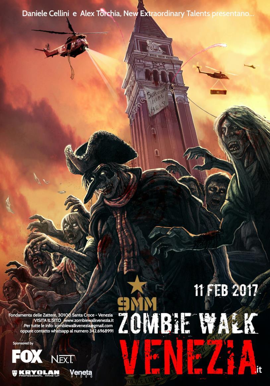 La Zombie Walk Venezia, che si terrà l'11 febbraio nel centro storico di Venezia
