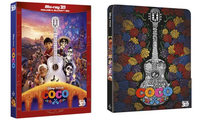 Cofanetto Blu-ray 3D e Steelbook di Coco
