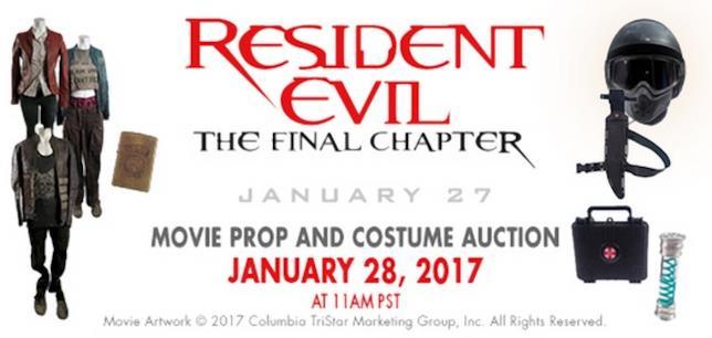 All'asta il 28 gennaio oltre 600 oggetti dal set di Resident Evil
