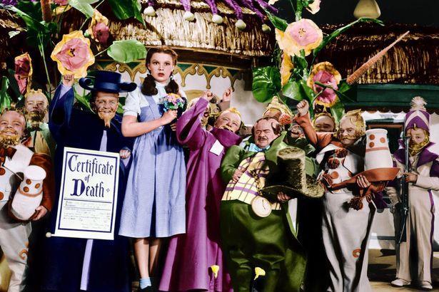 Judy Garland sul set de Il Mago di Oz