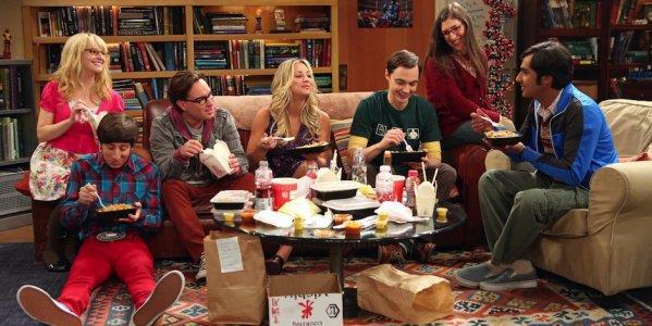 Gli attori di The Big Bang Theory durante una scena