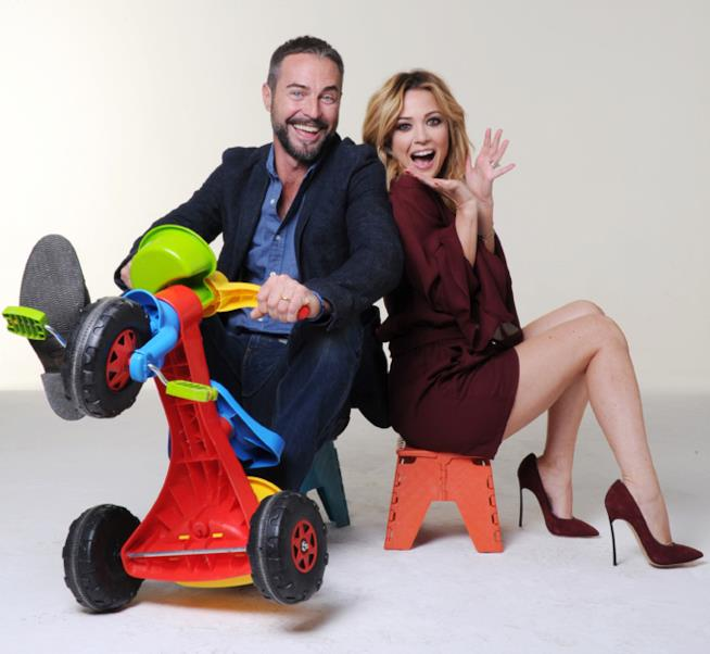 I conduttori: Flavio Montrucchio e Georgia Luzi