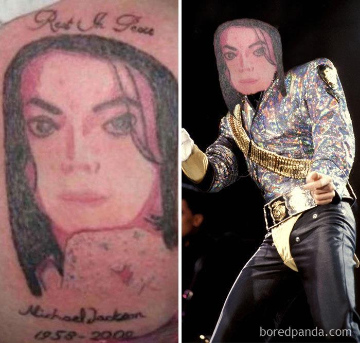 Tatuaggi brutti con lo face-swap: il volto di Michael Jackson